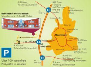 Zufahrtsplan-Peters-Reisen-Betriebshof-Wasbek