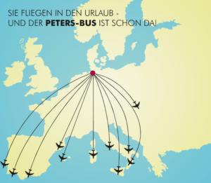 Flug-Bus-Kombination Peters-Bus Flugreisen Mittelmeer Busreisen Flugreisen ab Hamburg